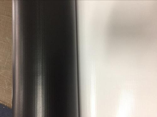 черный задний баннер