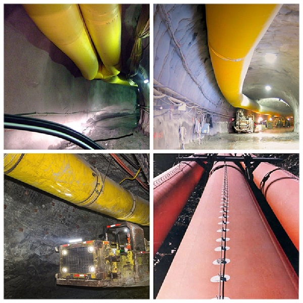 Flexible Ventilation Ducting for Tunnel