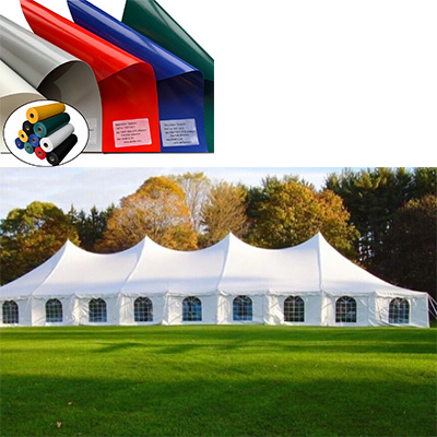 China High Tear Strength Tarpaulin Fabric Factory for outdoor Tent